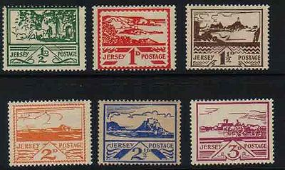 Jersey Postage Stamps Issued During The German Occupation