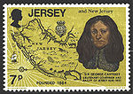 Sir George Carteret on a Jersey stamp