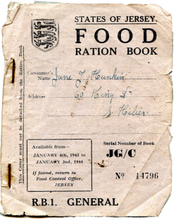 graphic regarding Ration Book Ww2 Printable titled Food stuff and Rationing - theislandwiki